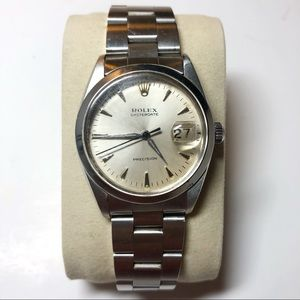 Rolex OysterDate Precision Watch Stainless Steel